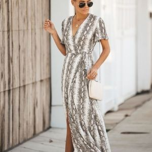 Snakeskin dress/coverup